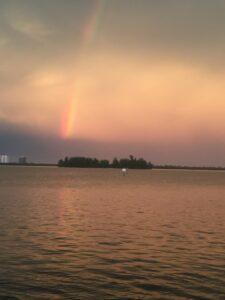 Rainbow end at Island
