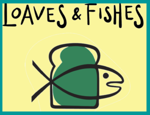 Logo with Bread Loaf and Fish with words Loaves & FishesOur Loaves and Fishes team is a food ministry, providing meals for homeless and indigent neighbors in Fort Pierce.