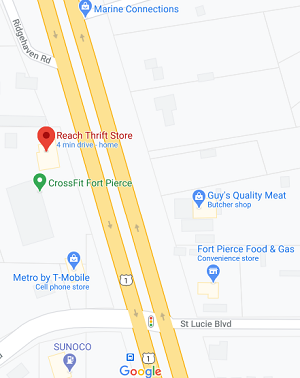 Map of Thrift Store location.