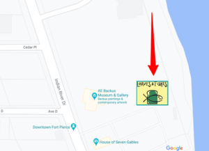 Brunch location is the parking lot due east of the Backus Art Museum.