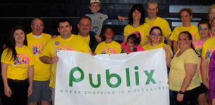 Publix employees and banner